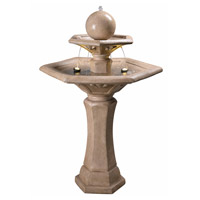 Kenroy Lighting 51032SNDST Riviera Sandstone Floor Fountain