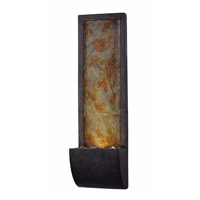 Kenroy Lighting 51034SLBL Triptych Black and Slate Wall Fountain