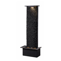 Kenroy Lighting 51035BLSL Alluvium Black Floor Fountain