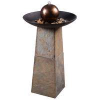 Kenroy Lighting 51037SL Orb Slate Floor Fountain