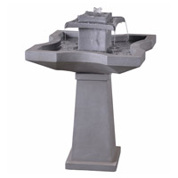 Kenroy Lighting 51057CON Quad Concrete Floor Fountain