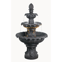 Kenroy Lighting Costa Brava 2 Light Outdoor Fountain in Plum Bronze   53200PLBZ