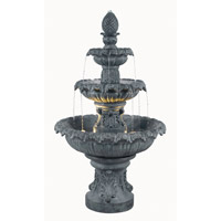 Kenroy Lighting 53200ZC Costa Brava Zinc Outdoor Floor Fountain Home Decor