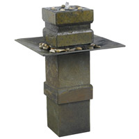 Kenroy Lighting Cubist Floor Fountain in Natural Slate   53210SL