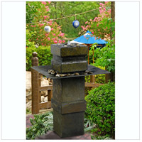 Kenroy Lighting 53210SL Cubist Natural Slate Indoor/Outdoor Floor Fountain alternative photo thumbnail
