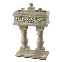 Veranda Weathered Stone Finish Floor Fountain Home Decor