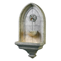 Canterbury Cement Indoor/Outdoor Wall Fountain
