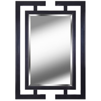Shinto 41 X 29 inch Gloss Black Wall Mirror