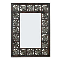 Kenroy Lighting Foliage Wall Mirror in Dark Walnut  with Silver Accents  60005