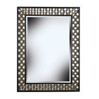 Checker 38 X 28 inch Brushed Silver/Black Wall Mirror