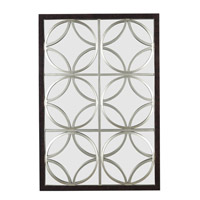 Kenroy Lighting Gable Wall Mirror in Walnut  with Silver Trellis  60016