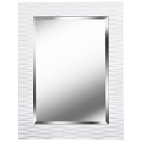 Kendrick 39 X 30 inch Gloss White Wall Mirror Home Decor