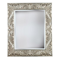 Kenroy Lighting 60030 Antoinette 38 X 32 inch Gilded Antique Silver Wall Mirror Home Decor