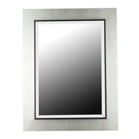 Kenroy Lighting Dolores Wall Mirror in Silver  with Black Trim Accent  60039