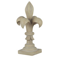 Kenroy Lighting Fleur de Lis Finial De Les Finial in Sandstone   60058