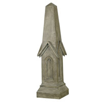Kenroy Lighting Chapel Obelisk Garden Ornament in Tuscan Earth   60064