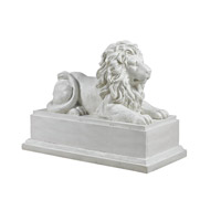 Kenroy Lighting Lion Pride Garden Ornament in Roman White 60071