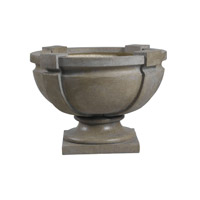 Kenroy Lighting Square Strap Urn Urn in Tuscan Earth   60075