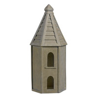 Kenroy Lighting Bird House Garden Ornament in Tuscan Earth   60083