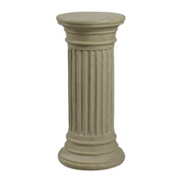 Kenroy Lighting Fluted Column Pedestal in Sandstone   60084