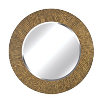 Kenroy Lighting Burl Wall Mirror in Striated Black and Tan   60094