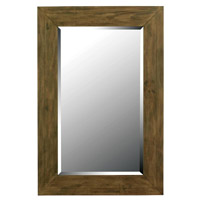 Eureka 42 X 28 inch Dark Wood Grain Wall Mirror Home Decor
