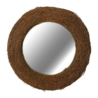 Kenroy Lighting 60204 Harvest 32 inch Natural Rattan Wall Mirror