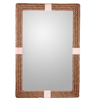 Roy 42 X 28 inch Natural Rope/Canvas Stripe Wall Mirror Home Decor