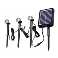 Kenroy Lighting Seriously Solar Solar Spotlight String in Black 60504