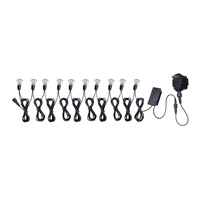 Kenroy Lighting Seriously Solar Low Volt 10 Light Solar Micro Light String in Black 60507