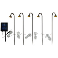 Kone 0.06 watt Matte Oil Rubbed Bronze Stake Lights, Solar