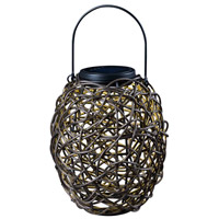 Tangle 13 inch 0.24 watt Black Outdoor Portable Lantern, Solar