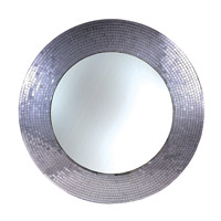Kenroy Lighting Miranda Wall Mirror in Silver Glass Mosaic 61007