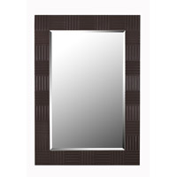 Flutes 40 X 28 inch Dark Wood Grain Wall Mirror Home Decor