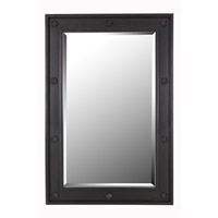 Signet 42 X 28 inch DarK Wood Grain Wall Mirror Home Decor