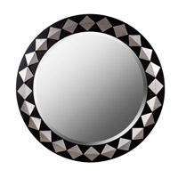 Rhombus 35 X 35 inch Espresso with Silver Wall Mirror Home Decor