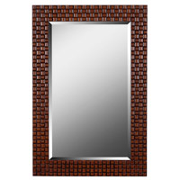 Interlace 42 X 28 inch Light and Dark Brown Wall Mirror Home Decor