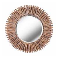 Kenroy Lighting Piper Wall Mirror in Natural Wood 61019