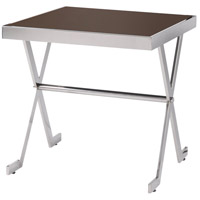 Campaign 19 inch Stainless Steel Accent Table Home Decor