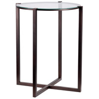 Kenroy Lighting 65023SBRZ Lodin 24 X 20 inch Satin Bronze Accent Table
