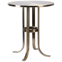 Riser 18 inch Antique Brass Accent Table Home Decor