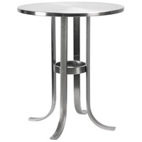 Riser 18 inch Brushed Steel Accent Table Home Decor