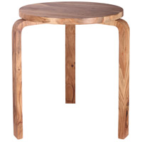 Stylus 18 inch Natural Sanded Accent Table Home Decor