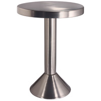 Sirus 16 inch Satin Nickel Accent Table Home Decor