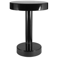 Weldon 16 inch Black Powder Coated Accent Table Home Decor