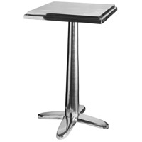 Cafe 14 inch Polished Aluminum Accent Table Home Decor