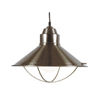 Harbour 1 Light 16 inch Brushed Steel Pendant Ceiling Light