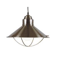 Kenroy Lighting 66349BS Harbour 1 Light 16 inch Brushed Steel Pendant Ceiling Light