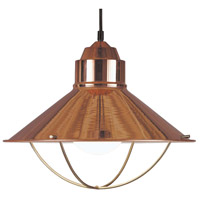 Harbour 1 Light 16 inch Copper Pendant Ceiling Light