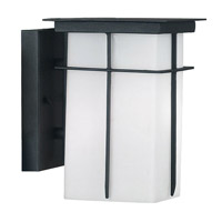 Mesa 1 Light 5 inch Textured Black Wall Lantern Wall Light